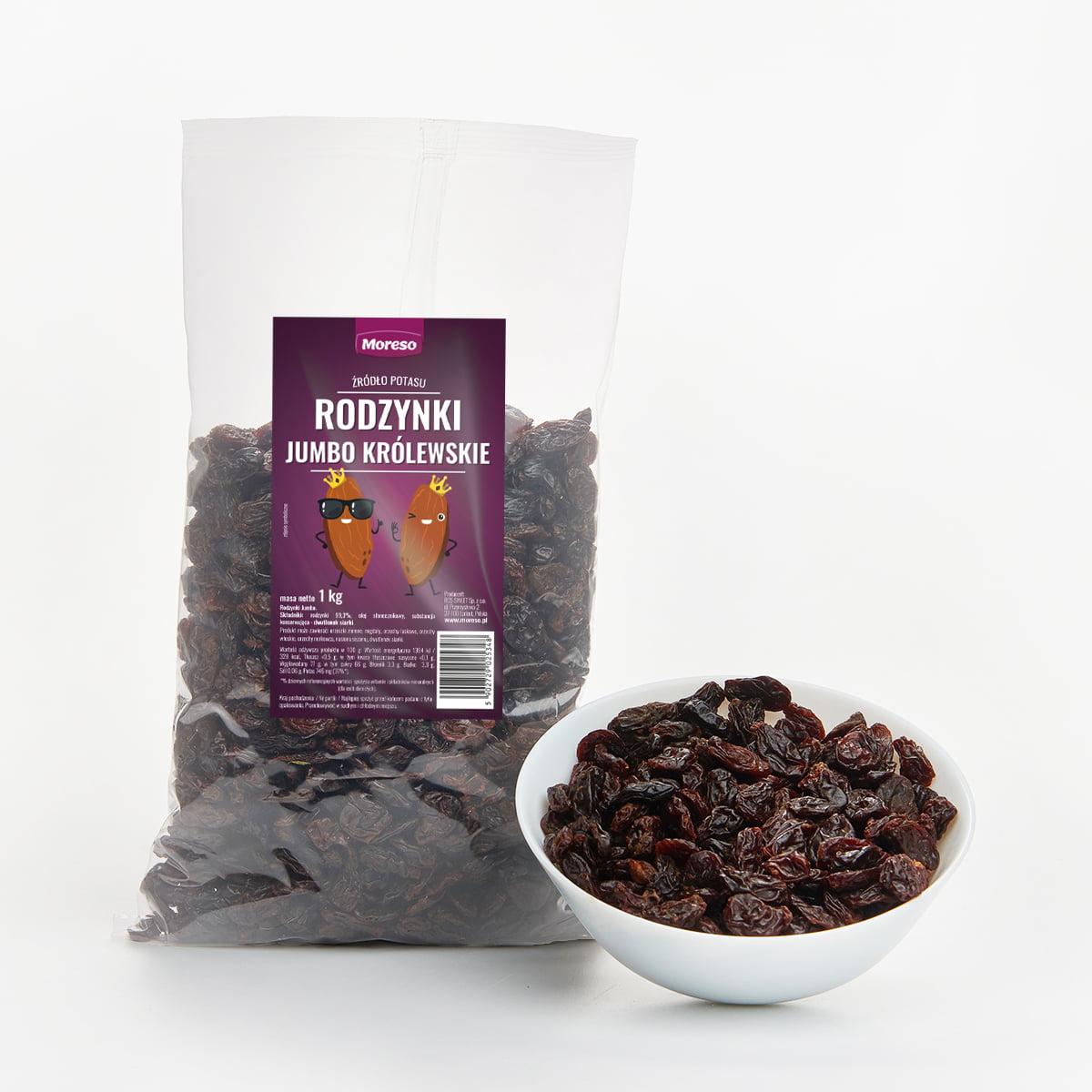 RODZYNKI Królewskie 1 kg jakość premium Moreso