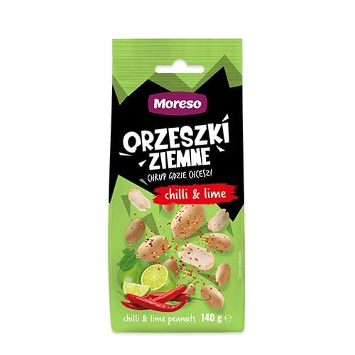Orzeszki ziemne chilli&lime 140g